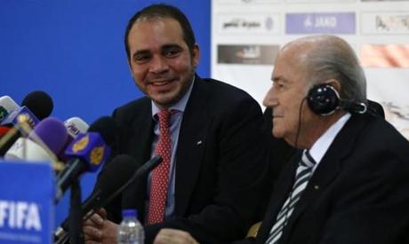 FIFA President Sepp Blatter and Jordan