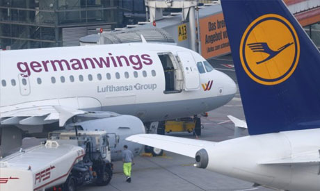 A Germanwings and Lufthansa aircraft
