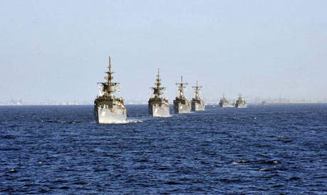 Egyptian warships