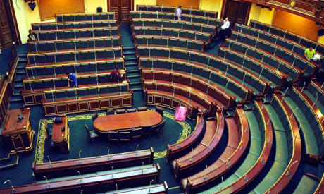 Empty Egyptian parliament