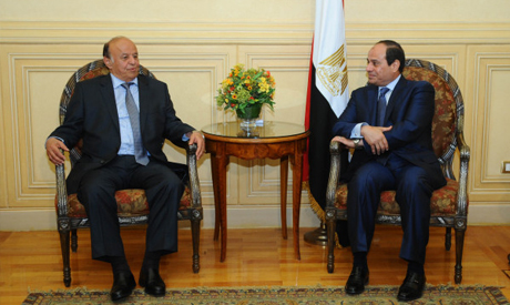 El-Sisi with Abed Rabbo Mansour Hadi