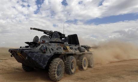 Iraqi forces tank