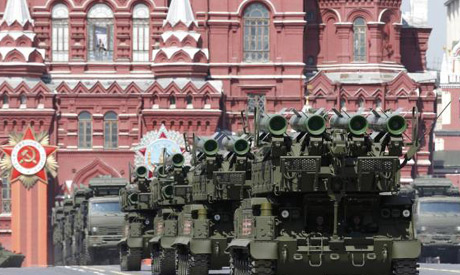 Victory Day parade at Red Square in Moscow