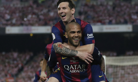 Messi and Alves