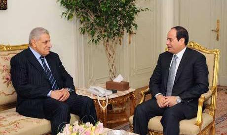 Egypt President El-Sisi and PM Mahlab