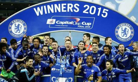 Premier League trophy 2015