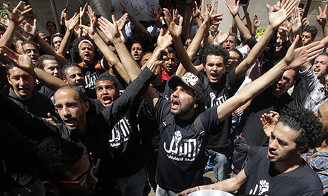 Members of Egypt's April 6 Youth Movement