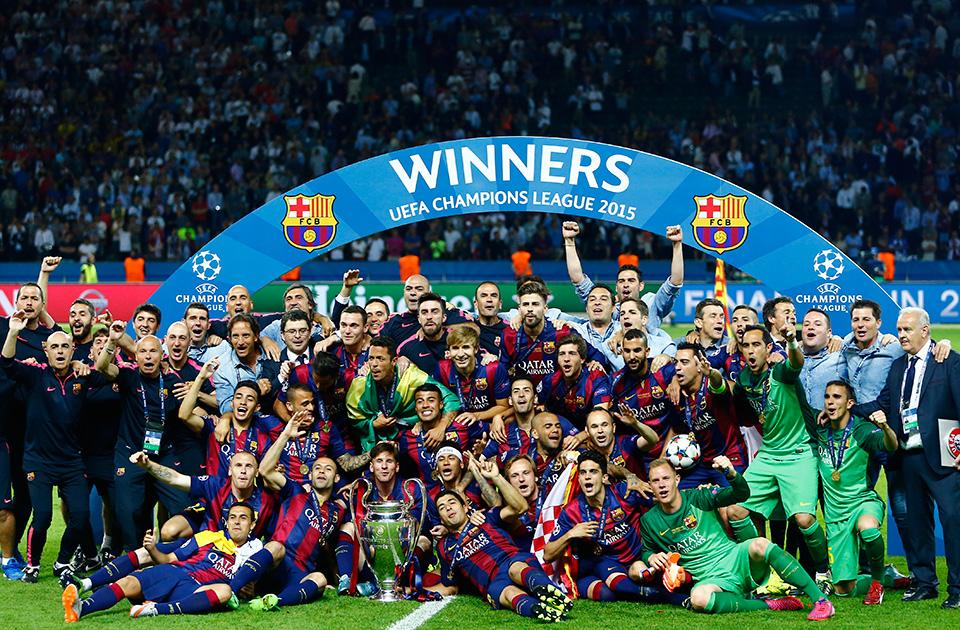 PHOTO GALLERY: Classy Barcelona celebrate UEFA Champions ...