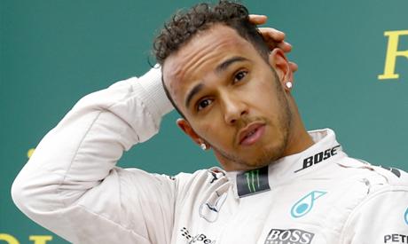 Mercedes driver Lewis Hamilton of Britain
