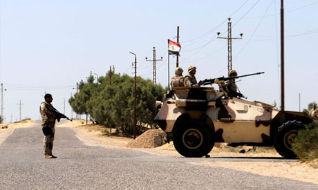 Egyptian army troops