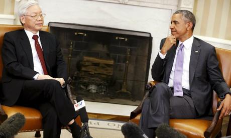Trong,Obama