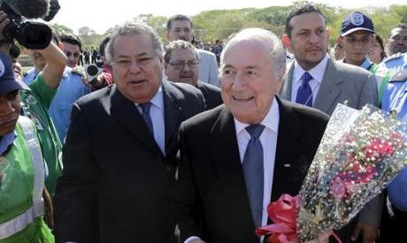 FIFA President Sepp Blatter and Julio Rocha