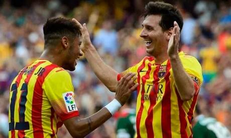 Neymar . Messi