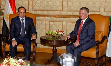Sisi meets King Abdullah