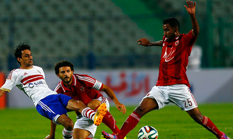 Ahly and Zamalek players (Reuters)