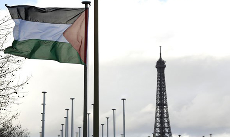 Palestinian Flag at UNESCO Headquarters