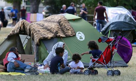 Austria refugee camp