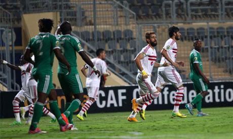 Zamalek players and Orlando Pirates players