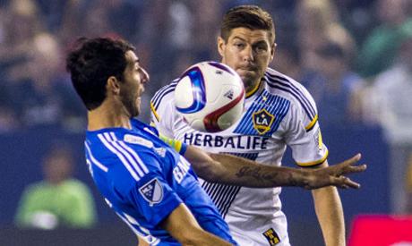 Los Angeles Galaxy midfielder Steven Gerrard