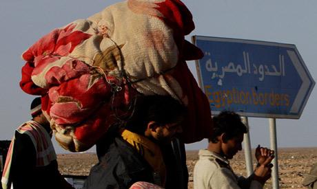 Egyptian man fleeing Libya