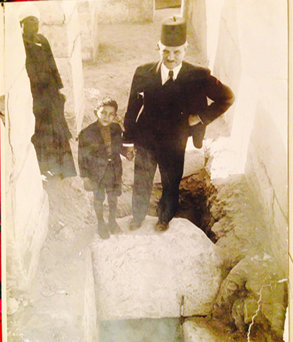 Selim Hassan and his youngest son, Ahmed on site