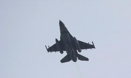 A Turkish F-16 fighter jet