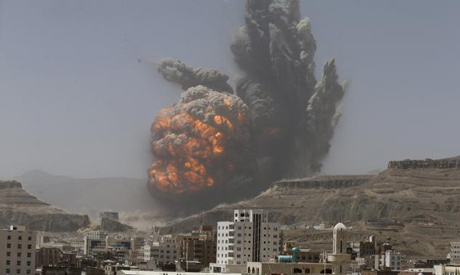 Air strikes by a Saudi-led alliance on Houthi-held areas (Photo: Reuters)