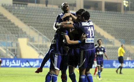 Zamalek players celebrate