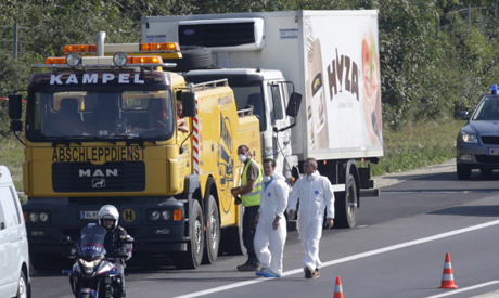 Austria hands over bodies of Iraqis found dead in lorry to