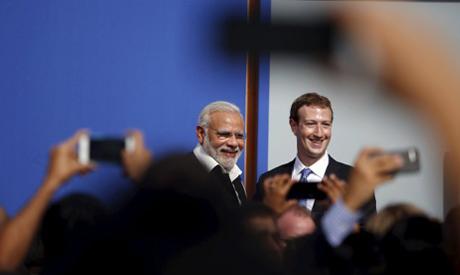 Modi, Zuckerberg