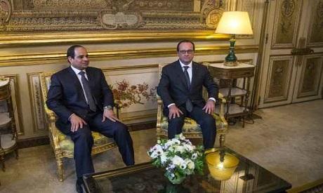 El-Sisi with Hollande