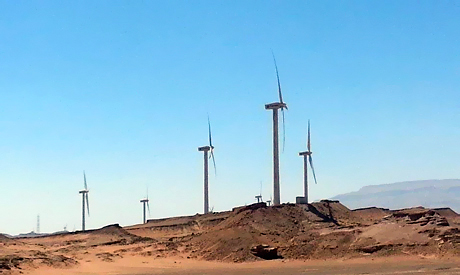 Power-generating windmill turbines of The Zafarana project