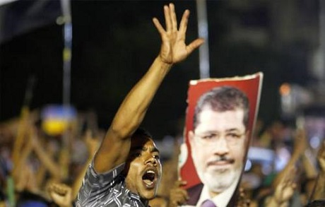 A supporter of Morsi
