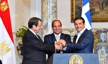 El-Sisi, Anastasiades, and Tsipras