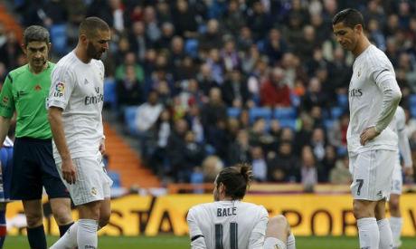 Karim Benzema, Cristiano Ronaldo and Gareth Bale