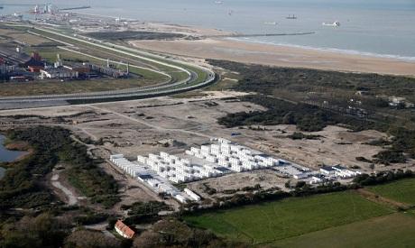 Calais camp after evacuation