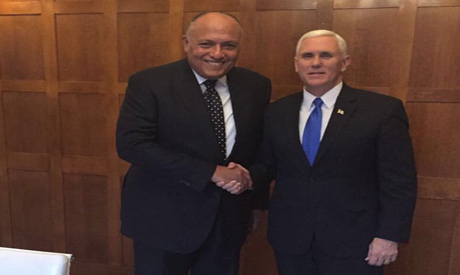 Pence and Shoukry