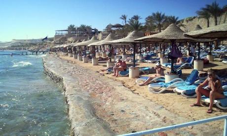 Tourists at Sharm El-Sheikh