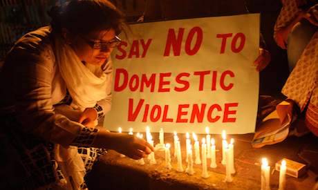 No to domestic violence
