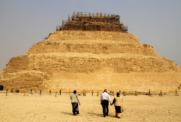 PHOTO GALLERY: Egypt restores its first pyramid Saqqara