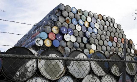 Used oil barrels are stacked at a storage facility in Seattle Washington February 12, 2015.(Reuters)