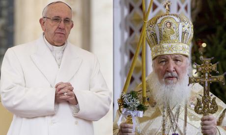 Pope Francis & Russian Orthodox Patriarch Kirill