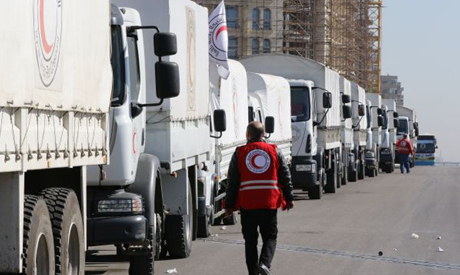 A Red Crescent convoy