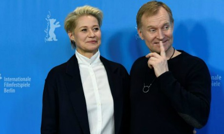 Trine Dyrholm (L) and Danish actor Ulrich Thomsen