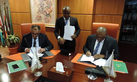 CBE governor Tarek Amer and Afreximbank president Benedict Oramah