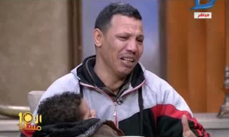 Ahmed Mansour and his father