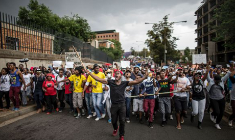 South Africa Unis Protests