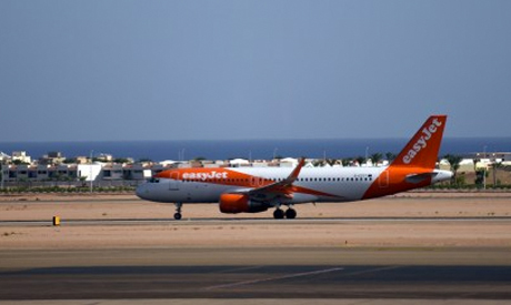 EasyJet plane in Sharm