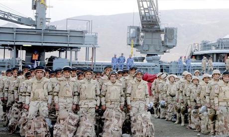 Egyptian troops head to Saudi Arabia