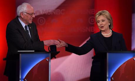 Sanders, Clinton